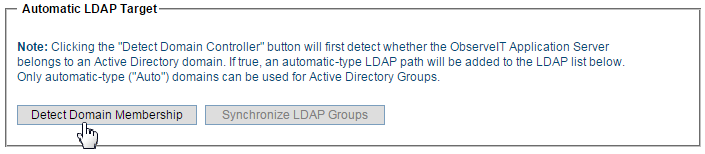 Adding Domains to Automatic LDAP Targets